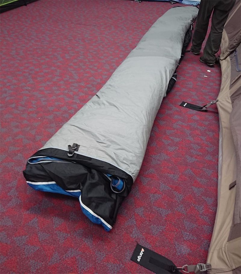 Folding the tent is easy, when you know how.